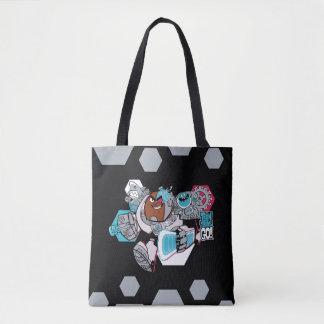 Teen Titans Go!   Cyborg's Arsenal Graphic Tote Bag