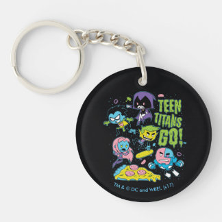 Teen Titans Go! | Gnarly 90's Pizza Graphic Key Ring