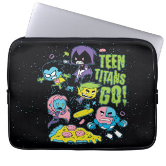 Teen Titans Go! | Gnarly 90's Pizza Graphic Laptop Sleeve