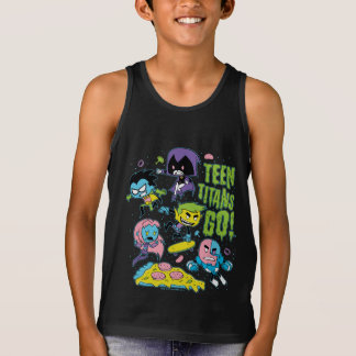 Teen Titans Go! | Gnarly 90's Pizza Graphic Singlet