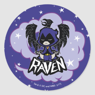Teen Titans Go! | Raven Attack Classic Round Sticker