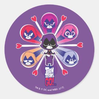 Teen Titans Go! | Raven's Emoticlones Classic Round Sticker