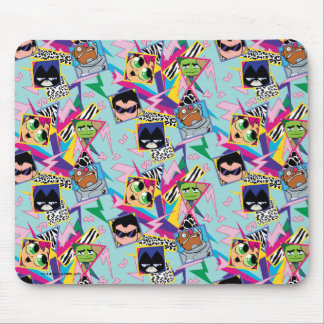Teen Titans Go! | Retro 90's Group Collage Mouse Pad