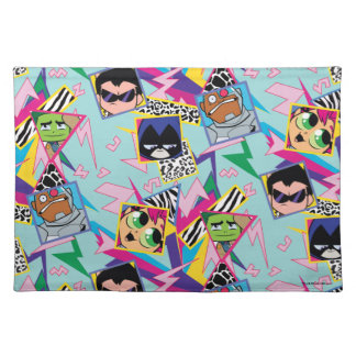 Teen Titans Go! | Retro 90's Group Collage Placemat
