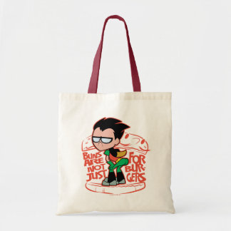 Teen Titans Go! | Robin Booty Scooty Buns Tote Bag