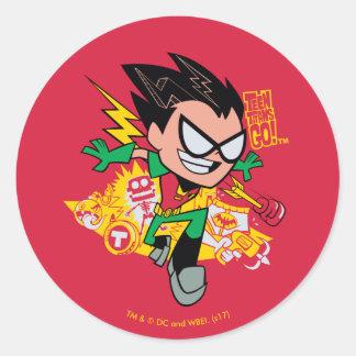 Teen Titans Go! | Robin's Arsenal Graphic Classic Round Sticker