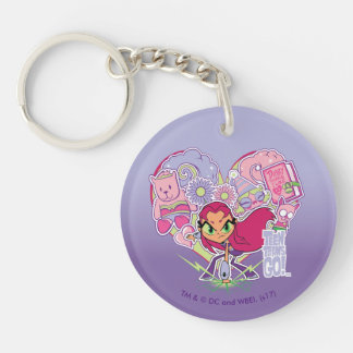 Teen Titans Go! | Starfire's Heart Punch Graphic Key Ring
