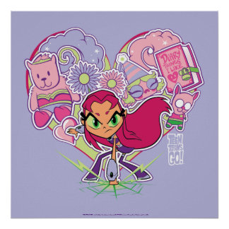 Teen Titans Go! | Starfire's Heart Punch Graphic Poster