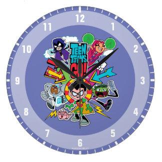 Teen Titans Go! | Team Arrow Graphic Large Clock