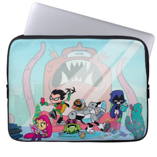 Teen Titans Go! | Tentacled Monster Approaches Laptop Sleeve