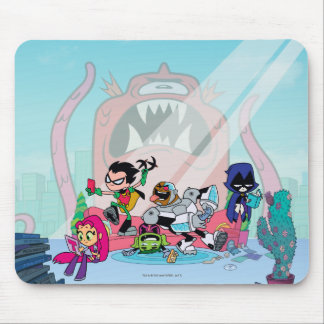 Teen Titans Go! | Tentacled Monster Approaches Mouse Pad