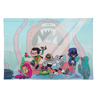 Teen Titans Go!   Tentacled Monster Approaches Placemat