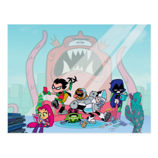 Teen Titans Go!   Tentacled Monster Approaches Postcard