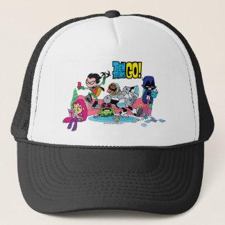 Teen Titans Go! | Tentacled Monster Approaches Trucker Hat