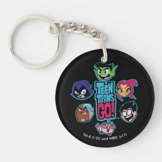 Teen Titans Go! | Titans Head Pattern Key Ring