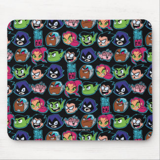 Teen Titans Go! | Titans Head Pattern Mouse Pad