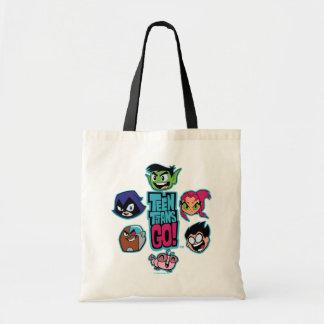 Teen Titans Go! | Titans Head Pattern Tote Bag