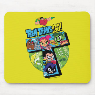 Teen Titans Go! | Titans Tower Collage Mouse Pad