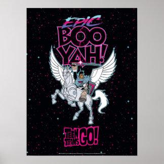 Teen Titans Go! | Warrior Cyborg Riding Pegasus Poster