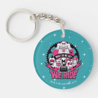 "Teen Titans Go!   ""We Ride"" Retro Moto Graphic Key Ring"