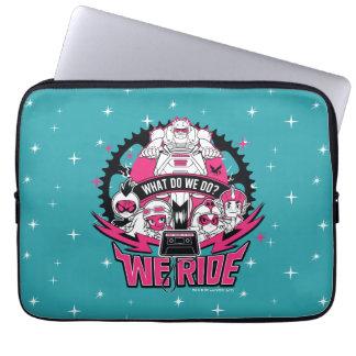 """Teen Titans Go!   """"We Ride"""" Retro Moto Graphic Laptop Sleeve"""