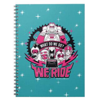 "Teen Titans Go! | ""We Ride"" Retro Moto Graphic Notebooks"