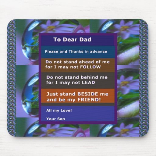 TEEN  to DAD: FUNNY SERIOUS inspiration LOWPRICE Mousepads