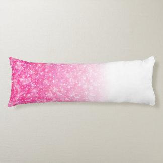 Teen Tween Girls Sparkly Pink Glitter Ombre Body Cushion