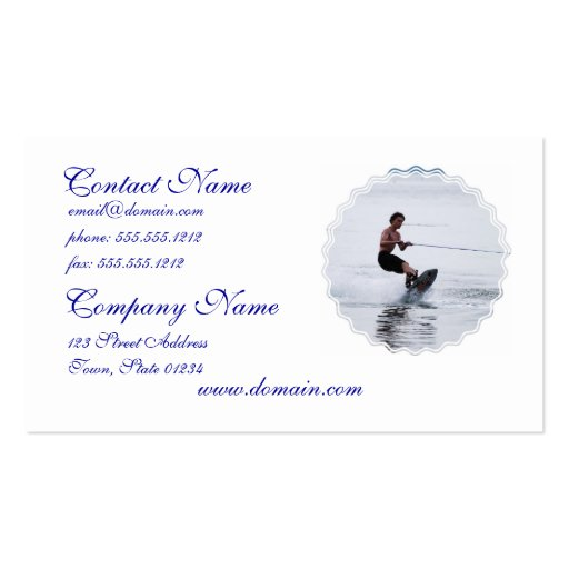 Teen Wakeboarder Business Cards