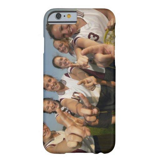 Teenage (16-17) lacrosse team signalling number iPhone 6 case