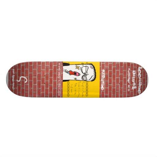 Teenage angst smudge skate custom skate board