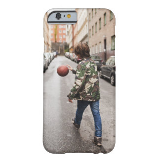 Teenage boy dribbling basketball barely there iPhone 6 case