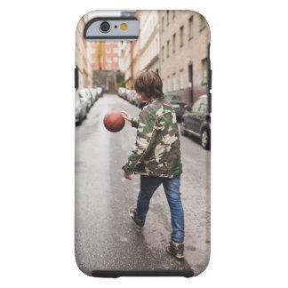 Teenage boy dribbling basketball tough iPhone 6 case