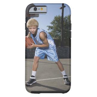 Teenage boy on basketball court 2 tough iPhone 6 case