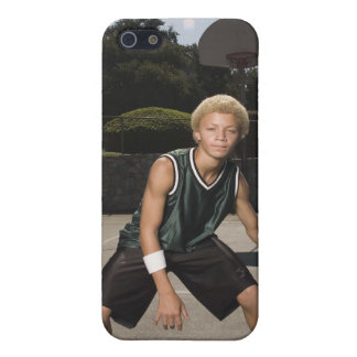 Teenage boy on basketball court cases for iPhone 5