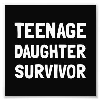 Teenage Daughter Survivor Photograph
