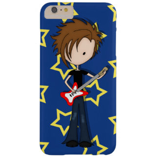 Teenage Emo Boy Rock Guitarist with Brown Hair Barely There iPhone 6 Plus Case