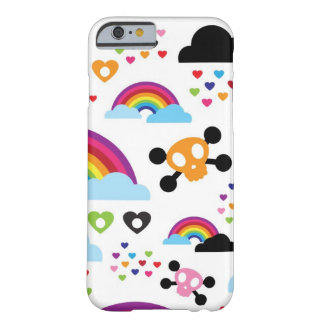 Teenage emo rainbow skull background barely there iPhone 6 case