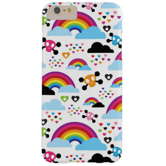 Teenage emo rainbow skull background barely there iPhone 6 plus case