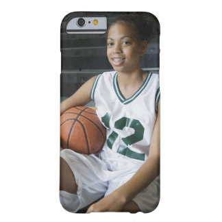 Teenage girl (13-15) wearing basketball uniform, barely there iPhone 6 case
