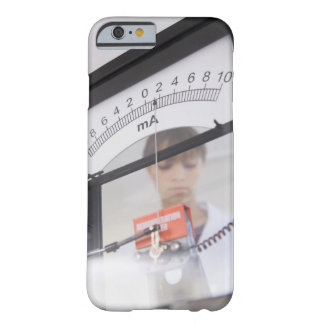 Teenage girl by science equipment barely there iPhone 6 case
