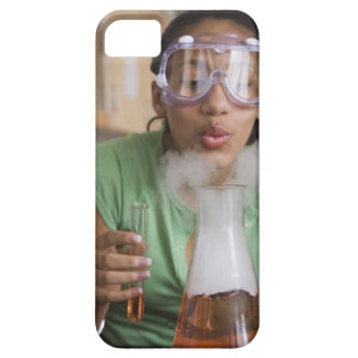 Teenage girl performing science experiment iPhone 5 case