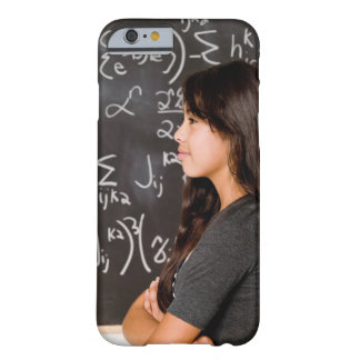 Teenage girl student at blackboard with math barely there iPhone 6 case