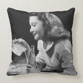 Teenage Girl Throw Pillow