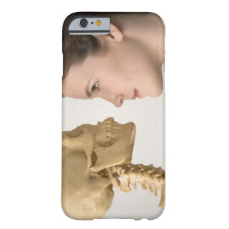 Teenage girl with skeleton barely there iPhone 6 case