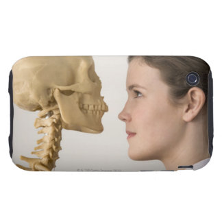 Teenage girl with skeleton tough iPhone 3 covers