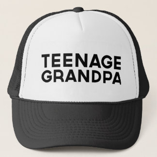 TEENAGE GRANDPA fun slogan trucker hat