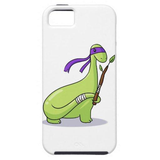 teenage mutant ninja Brontosaur! iPhone 5 Cover