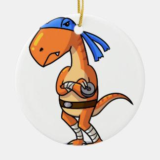 Teenage mutant ninja Raptor! Round Ceramic Decoration