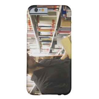 Teenage student in library barely there iPhone 6 case